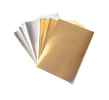 Gold & Silver A5 Card - Assorted - 230microns/175gsm - 148 x 210mm - Pack of 50