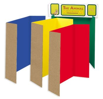Coloured Presentation Boards - Assorted - 1218 x 914mm - Pack of 4