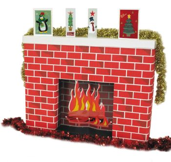 Corrugated Cardboard Fireplace - 965 x 175 x 762mm - 5308-2 - Each