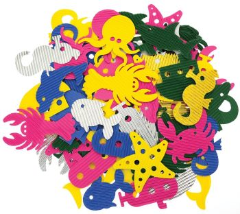 Corrugated Sea Life Shapes - Assorted - 71605 - Pack of 100