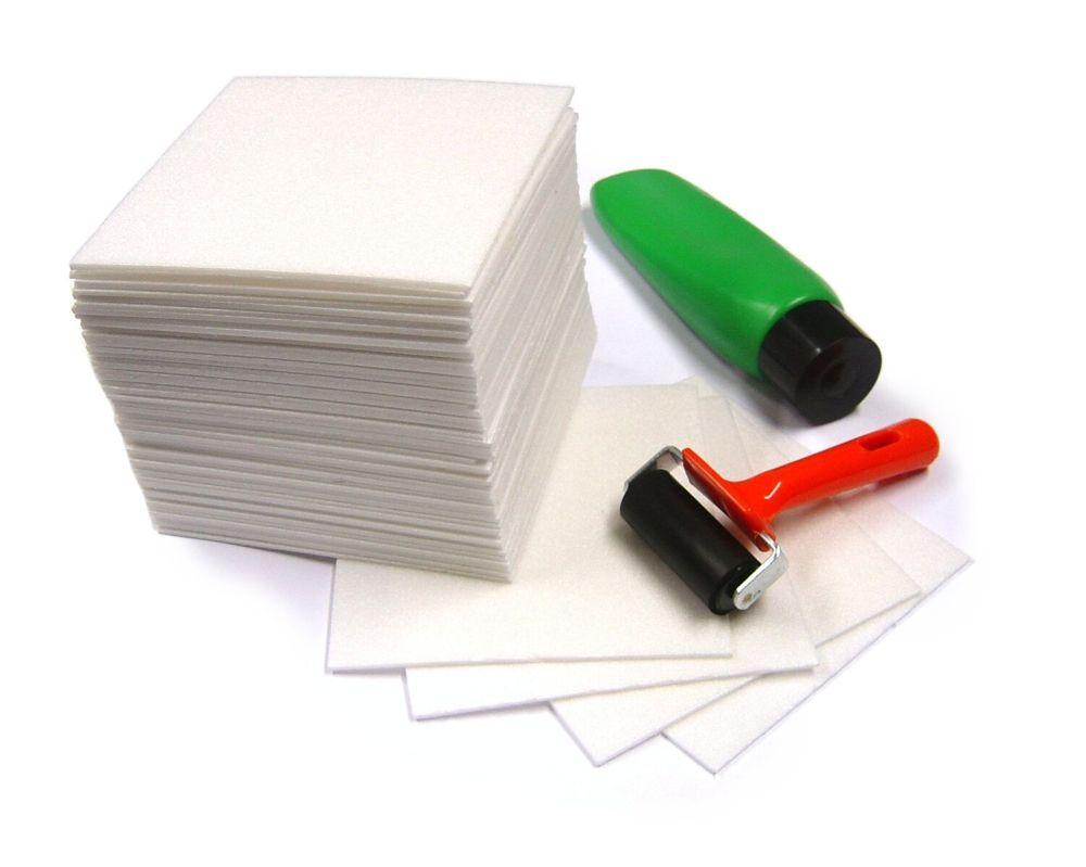 Safeprint Foam Sheets - 16.5 x 16.5cm - Pack of 50