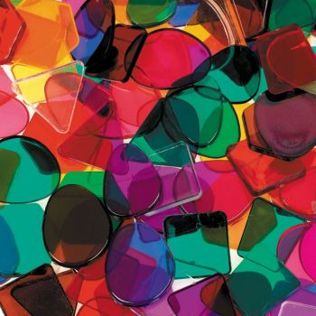 Mosaic Translucent Tiles - Assorted - 500g Bag - Each