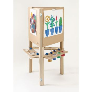 Wooden 3-Sided Easel - 120 x 100 x 67cm - Each