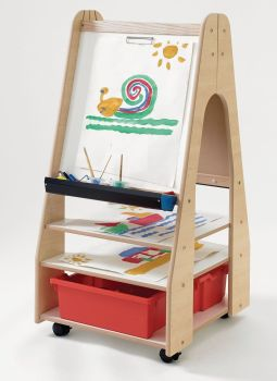 Double Sided Mobile Storage Easel - 57.5 x 66 x 120cm - Each