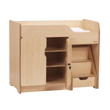 Changing Unit With Steps - 110 x 61 x 91cm - Each