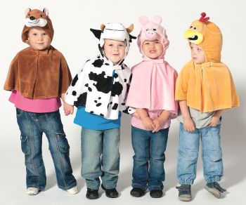 Farmyard Role Play Fancy Dress Capes - Assorted - 3-5 years - Pack of 4