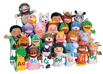 Alphabet Puppet Pack - Assorted - 30cm - HE129304 - Pack of 26