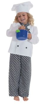 Chef's Role Play Fancy Dress Costume - 3-5 years - Per Set