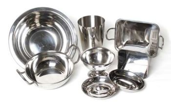 Metal Mud Kitchen Bowls  - Assorted - Pack of 8