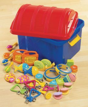 Early Years Percussion Treasure Chest - Assorted - Per Set