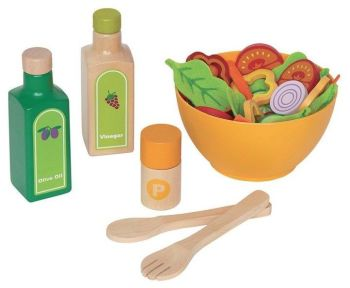 Chefs Wooden Garden Salad - Assorted - Per Set