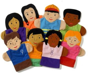 Children of the World Puppet Set  - Assorted - HE140705 - Pack of 8
