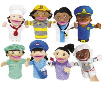 Community Helpers Puppets - Assorted - 30cm - HE48649965 - Pack of 6