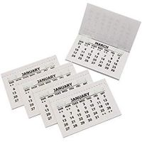 2021 Traditional Stitched Calendar Tabs Pad - Month to View - Tear off pages - BI0484-21 - Pack of 50