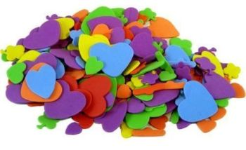 Eva Foam Hearts & Flowers - Assorted - Pack of 250