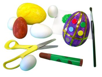 Polystyrene Eggs - Assorted - Pack of 30