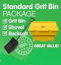 Standard Grit Bin & White Rock Salt Package - Per Set
