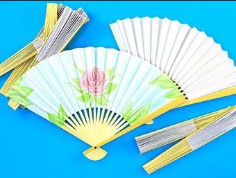 Decorate Your Own Paper Fans - 20cm - HE152392 - Pack of 12