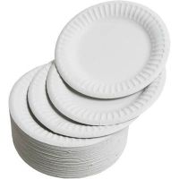 White Paper Plates - 22.5cm - CPD75081 - Pack of 100