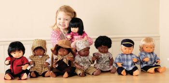 African Multicultural Hard Bodied Girl Doll - 38cm - Each