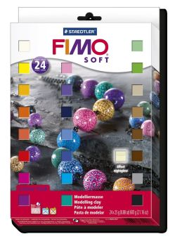 Fimo Soft Modelling Polymer Clay - Assorted - 25g - Pack of 24