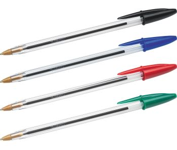 Bic Cristal Medium Nib Ballpoint Pen - Please Select Colour - Pack of 50