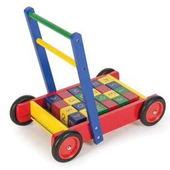 Baby Walker with ABC Blocks - 30 x 48 x 43cm - Each