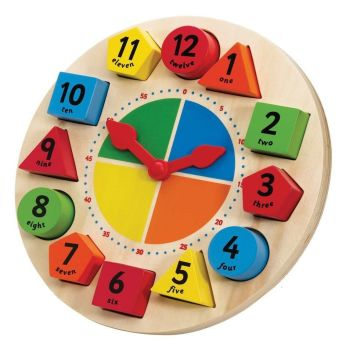 Explore Sorting & Teaching Clock - 23cm Diameter x 1.5cm - Each