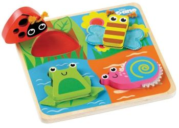Bugs Touch & Feel Puzzle - 20 x 20 x 1cm - Each