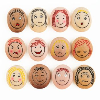 Emotion Stones - Assorted - 45mm - Pack of 8