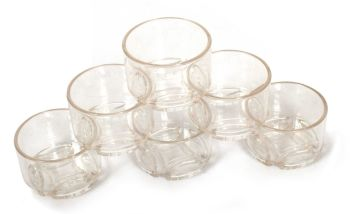 Clear Water & Sand Sieves Cups - 8cm - Pack of 6
