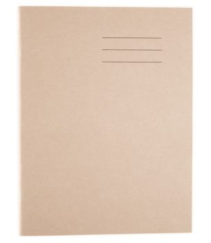 A4/297 x 210mm Buff Cover Plain Page Exercise Book - 64-Page - HE912769 - Pack of 50