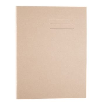 A4/297 x 210mm Buff Cover 8mm Lined and Margin Exercise Book - 64 Page - HE309822 - Pack of 50