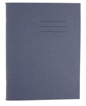 Dark Blue Cover 8mm Lined and Margin A4 Exercise Book - 64 Page - 210 x 297mm - Pack of 50