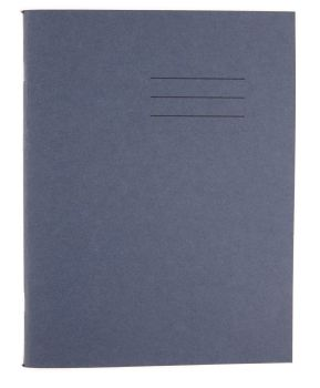 Dark Blue Cover 8mm Lined and Margin A4 Exercise Book - 80 Page - 210 x 297mm - Pack of 50