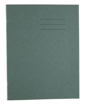 Dark Green Cover 8mm Lined and Margin A4 Exercise Book - 48 Page - 210 x 297mm - Pack of 50