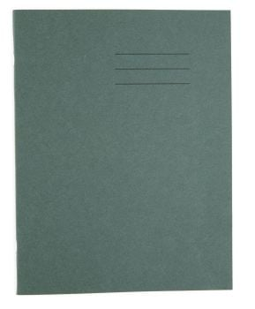 Dark Green Cover 8mm Lined and Margin A4 Exercise Book - 80 Page - 210 x 297mm - Pack of 50