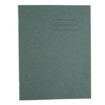 Dark Green Cover Half Page 8mm Ruled & Plain A4 Exercise Book - 80 Page - 210 x 297mm - Pack of 50
