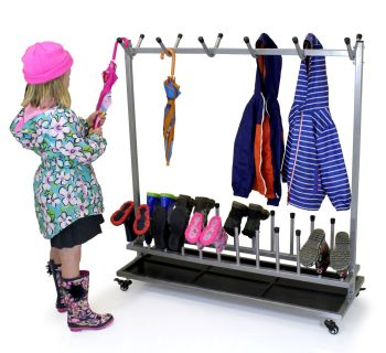 Wellington Boot & Coat Storage Rack - 110 x 40 x 120cm - Each