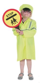 Crossing Patrol Officer Role Play Fancy Dress Costume - 3-5 years - Per Set