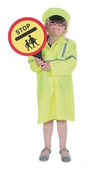 Crossing Patrol Officer Role Play Fancy Dress Costume - 5-7 years - Per Set