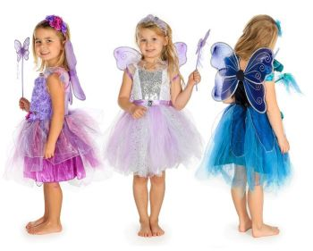 Fairy Role Play Fancy Dress Outfits - Assorted - 3-5 years - Pack of 3
