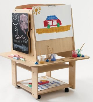 4 Sided Millhouse Mobile Storage Easel - 107 x 64 x 20cm - Each
