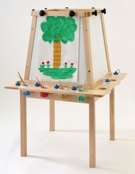 4 Sided Wooden Early Years Easel - 695 x 100 x 1150mm - Each