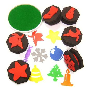 Double Sided Foam Christmas Stampers - Assorted - Pack of 6