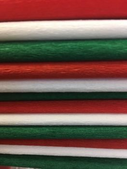 Christmas Crepe Paper - Assorted - 51cm x 3m - Pack of 12