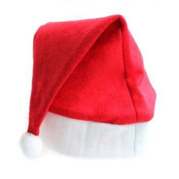 Christmas Felt Santa Hat - One Size Fits All - Each
