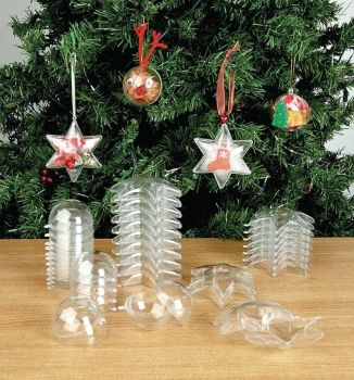 Christmas Tree/Celebration Collage Bauble Pack - 6 x 2 Designs - Pack of 12