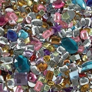 Acrylic Jewels Class Pack - Assorted - HE176104 - 500g Bag - Each