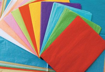 Remnant Tissue Paper - Assorted Sizes & Colours - HE368244 - Pack of 80